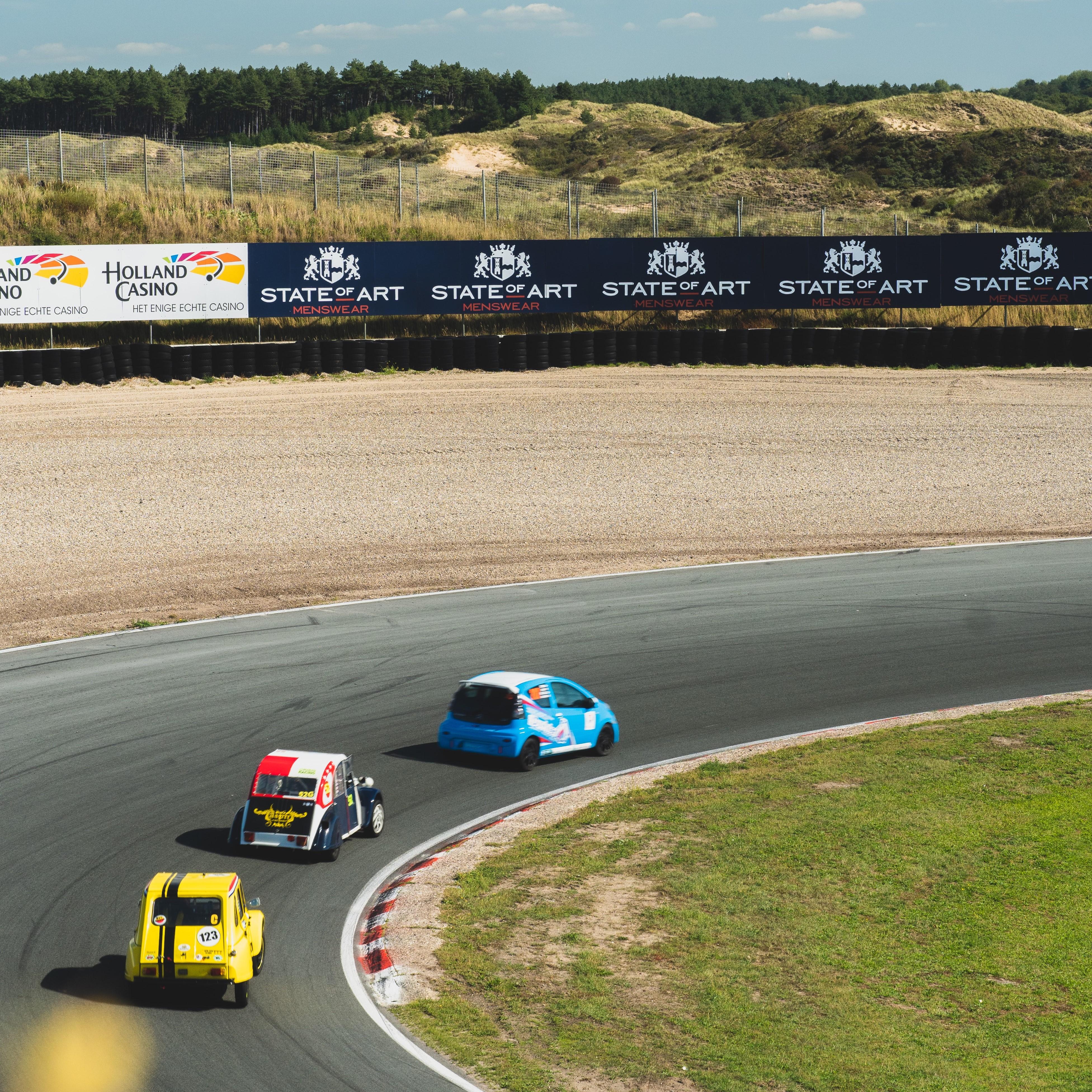 Zandvoort aan het racen