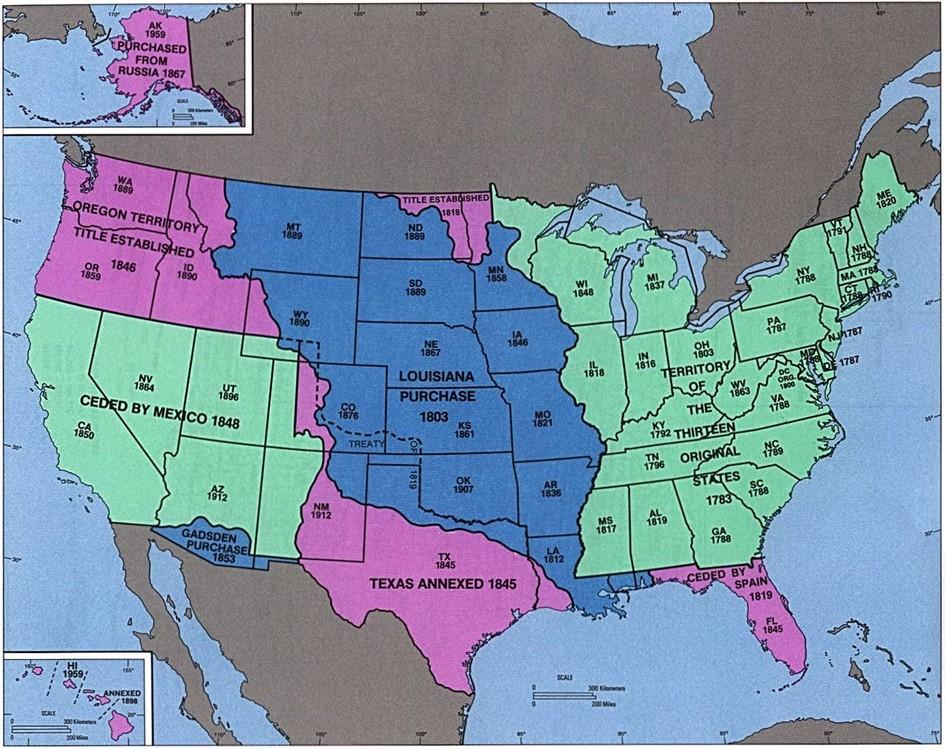 Hoe de VS groeide tot 1853